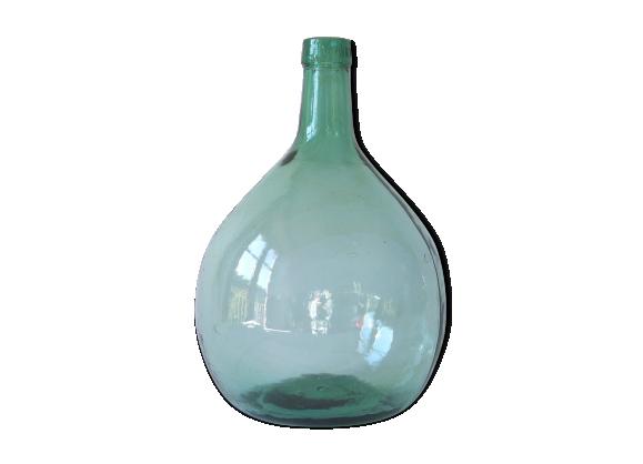 dame jeanne verte en verre de 5 litres verre et cristal vert bon tat vintage. Black Bedroom Furniture Sets. Home Design Ideas