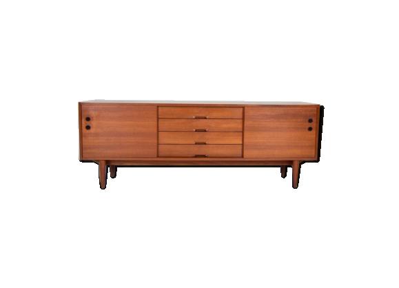 enfilade en teck ann es 60 teck marron bon tat scandinave. Black Bedroom Furniture Sets. Home Design Ideas