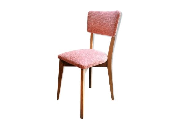 chaise vintage 1950 1960 rouge chin blanc en h tre bois mat riau rouge bon tat. Black Bedroom Furniture Sets. Home Design Ideas