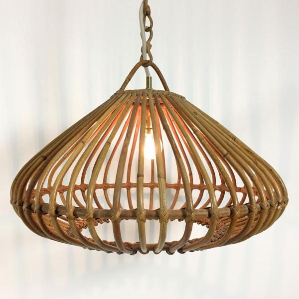 suspension en bambou des ann es 60 rotin et osier bois couleur bon tat vintage. Black Bedroom Furniture Sets. Home Design Ideas