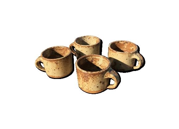 Tasses à cafés en grès