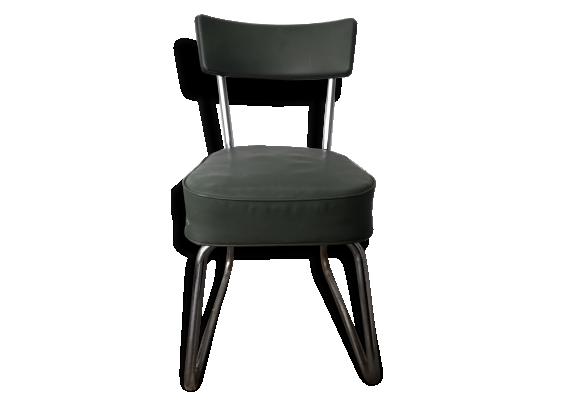 Chaise De Bureau Vintage Pullman M Tal Vert Dans Son Jus Vintage 64148