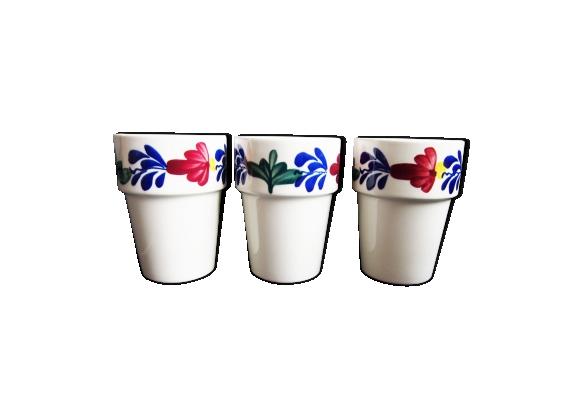 Trio de mugs Boch vintage