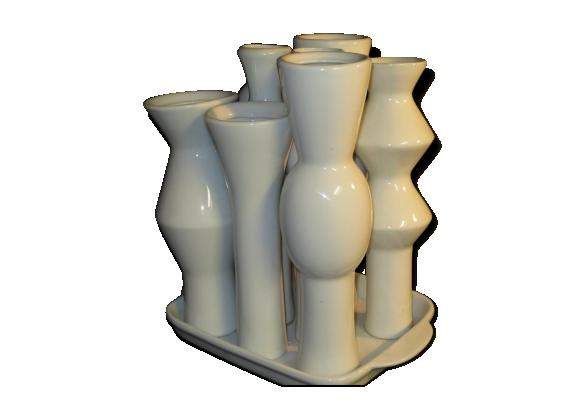 Vase multiple monobloc porcelaine XXe