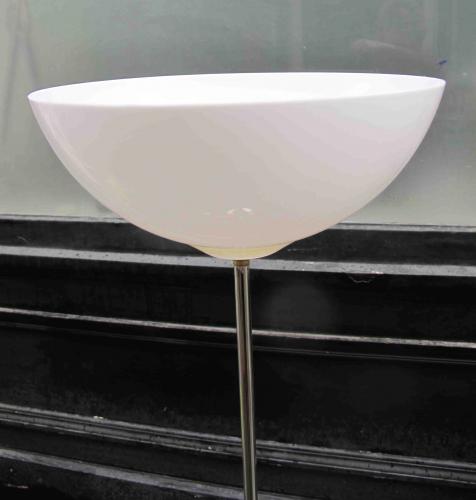 Lampadaire liseuse chrome et plastique 1970