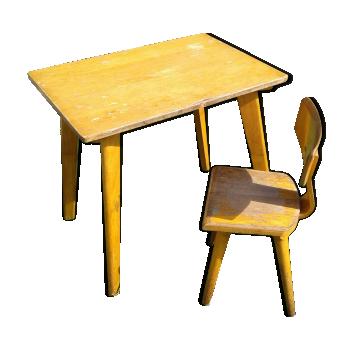 Mobilier et d coration pour chambre d 39 enfant vintage d 39 occasion - Bureau et chaise pour bebe ...