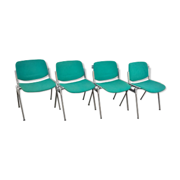 "Suite de 4 chaises ""dsc"" de giancarlo piretti"