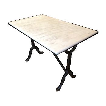 Table en marbre vintage d 39 occasion - Table de bistrot marbre ...