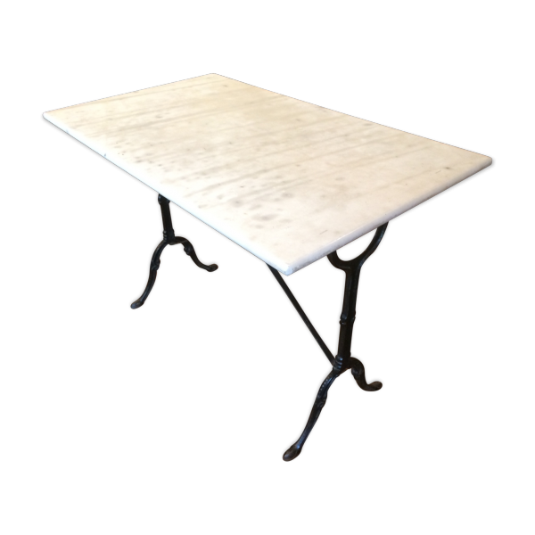 Table de bistrot en marbre marbre blanc bon tat for Table de mixage zmx 52