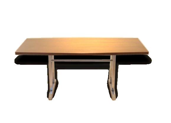 Bureau table bois for Bureau en bois exotique