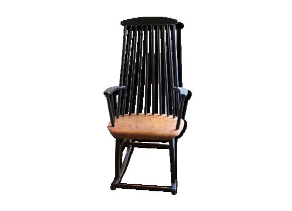 fauteuil bascule tapiovaara bois mat riau bois couleur bon tat scandinave. Black Bedroom Furniture Sets. Home Design Ideas