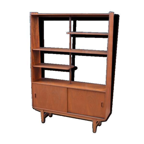 biblioth que s paration de pi ce en teck bois mat riau bois couleur bon tat. Black Bedroom Furniture Sets. Home Design Ideas