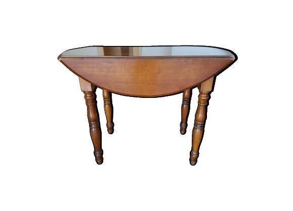 Table ovale à battants
