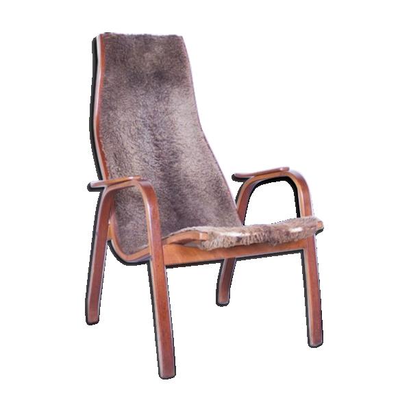 Chaise kurva ann es 50 peau gris bon tat design - Chaise design annee 50 ...