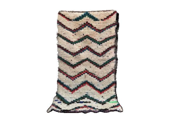 tapis berb re beni ouarain 90x164 cm tissu multicolore bon tat thnique. Black Bedroom Furniture Sets. Home Design Ideas