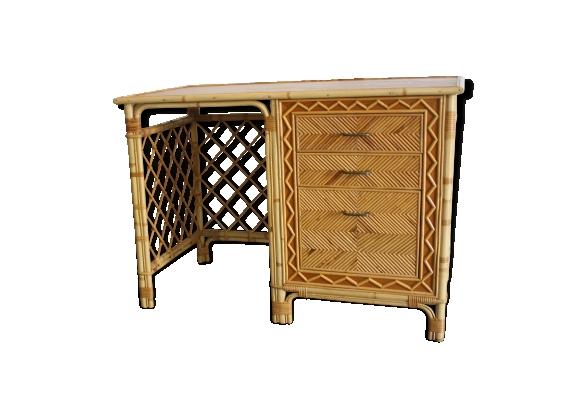 bureau rotin achat vente de bureau pas cher. Black Bedroom Furniture Sets. Home Design Ideas