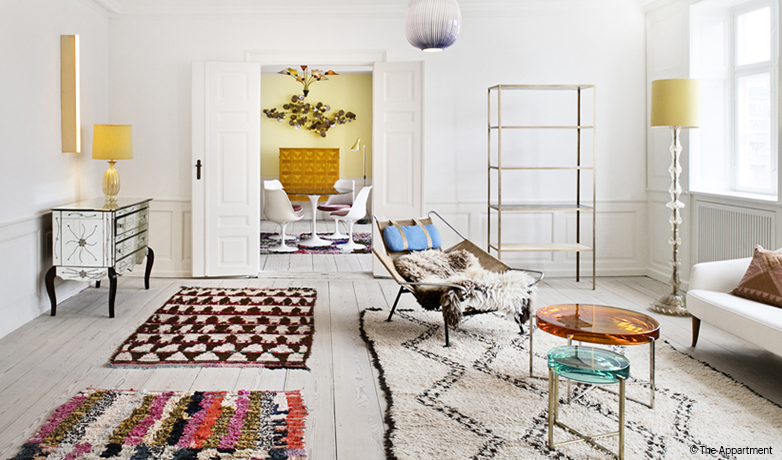tapis et peau vintage d 39 occasion. Black Bedroom Furniture Sets. Home Design Ideas