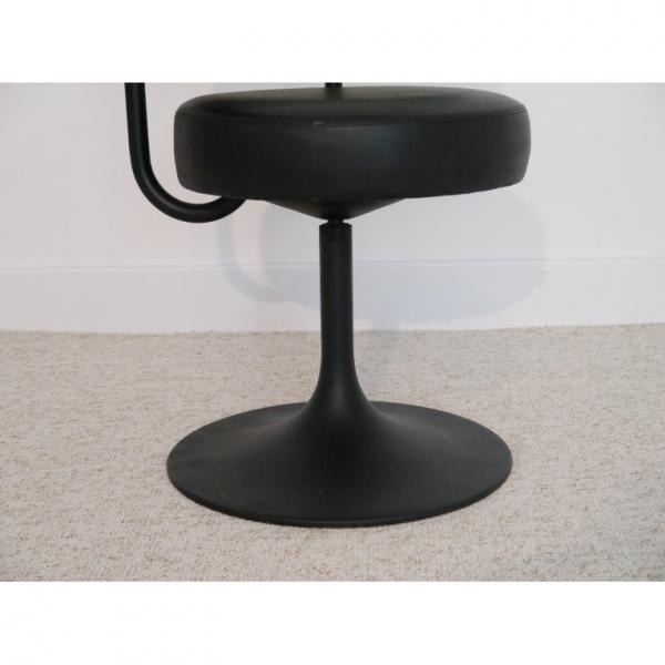 Chaise vintage pivotante pied tulipe ska noir bon tat design - Chaise tulipe a vendre ...