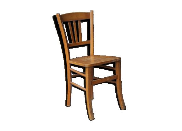 chaise de bistro bois blond bois mat riau bois couleur bon tat vintage. Black Bedroom Furniture Sets. Home Design Ideas