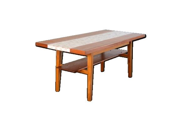 Table basse double plateaux années 60 vintage