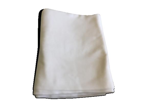 Nappe en coton blanche damassée