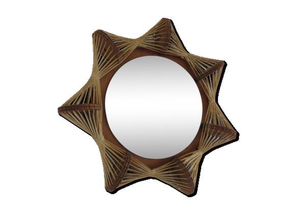 Miroir scandinave en fil et bois ann es 60 70 bois for Miroir scandinave