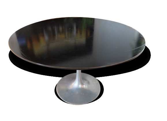 Table bois pieds m tal - Table ronde pied metal ...