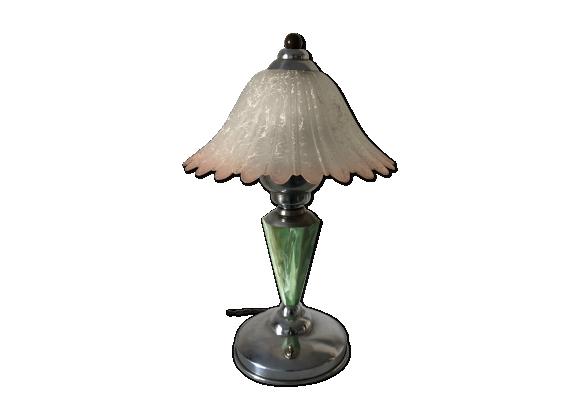 Lampe art déco verre bakélite 37cm vintage 1930
