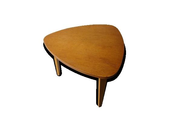 Table basse en bois design Hugues STEINER des années 50