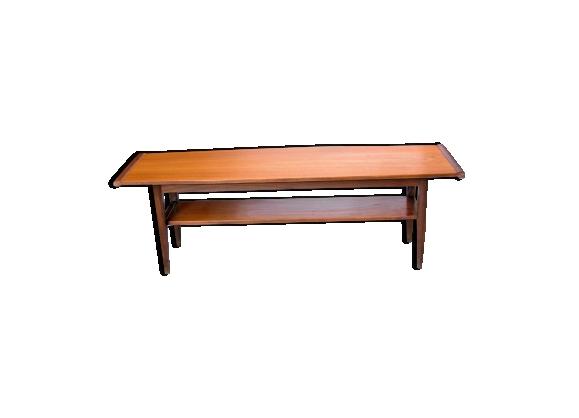 Table basse en teck de style scandinave