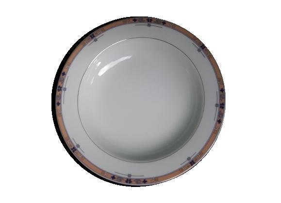 Lot de 12 assiettes creuses calotte porcelaine de limoges Philippe Deshoulières
