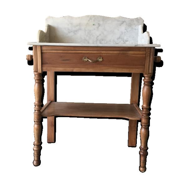 coiffeuse en bois et marbre bois mat riau bois couleur bon tat classique. Black Bedroom Furniture Sets. Home Design Ideas