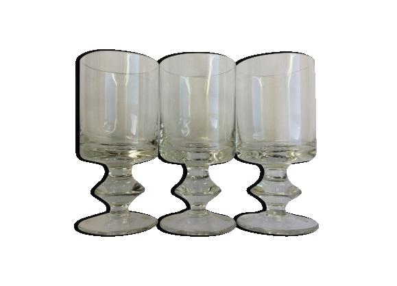 Lot de 3 verres à pied