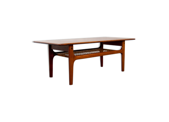 Table basse danoise en teck teck bois couleur bon for Table basse danoise