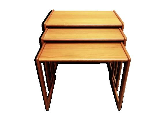Tables basse gigogne design scandinave teck 1950
