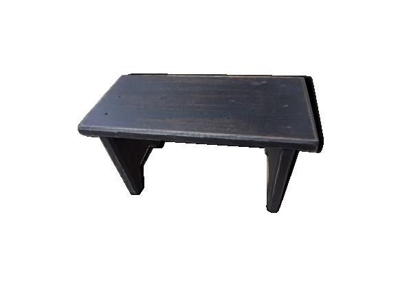 Tabouret vieux bois patiné en noir