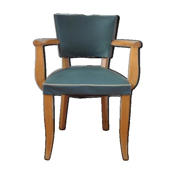 chaise bridge moustache vert anglais ann es 40 bois. Black Bedroom Furniture Sets. Home Design Ideas