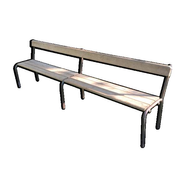 ancien banc d 39 cole vintage 1960 bois mat riau bois couleur dans son jus vintage. Black Bedroom Furniture Sets. Home Design Ideas