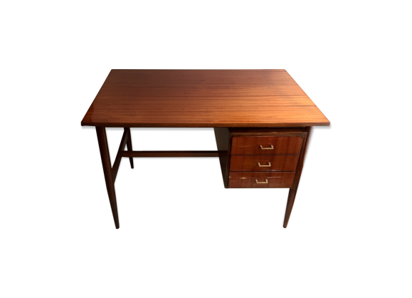 bureau ann es 50 60 bois mat riau bois couleur bon tat vintage. Black Bedroom Furniture Sets. Home Design Ideas