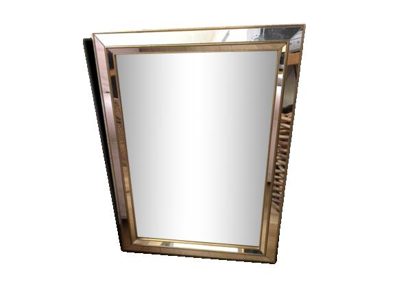 Miroir rectangulaire art d co ann es 50 verre et cristal for Miroir largeur 50