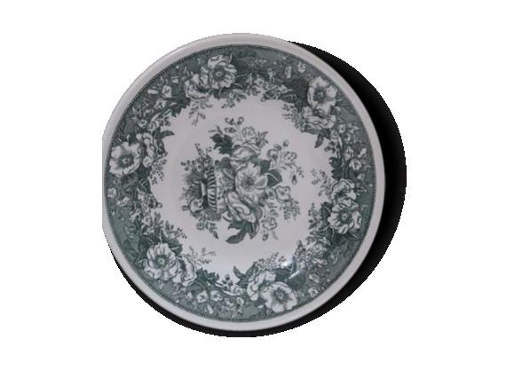 Assiette ancienne Balmoral Décors fleurs vertes