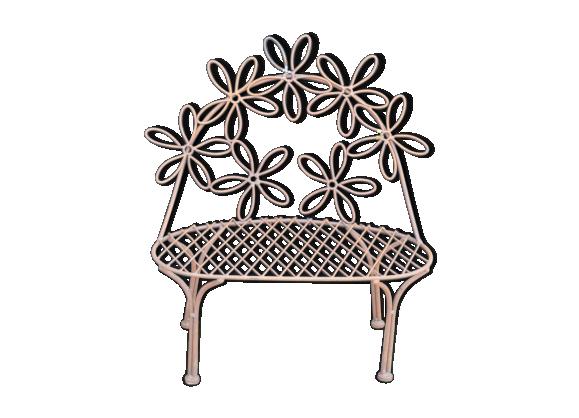 banc de jardin pour enfant en fer fer marron bon tat classique. Black Bedroom Furniture Sets. Home Design Ideas