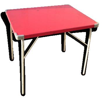 Petite table pliante de camping en métal SOUPLEX, vintage années 60
