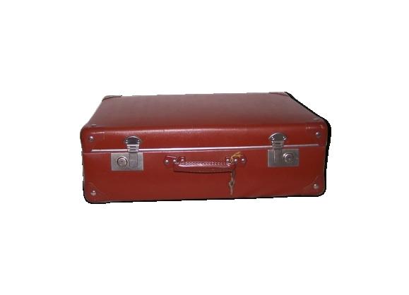 Valise vintage brune années 50