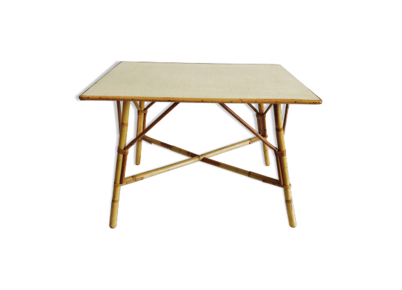 Table basse en rotin rotin et osier bois couleur for Table basse en rotin