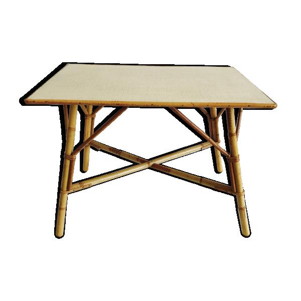 table basse en rotin a vendre. Black Bedroom Furniture Sets. Home Design Ideas