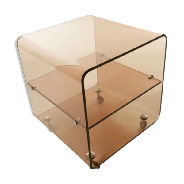 Table basse en acrylique transparent - Table basse en plexi ...