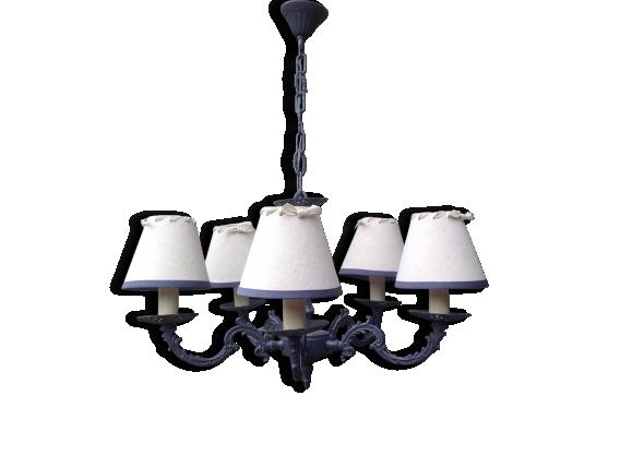 lustre bronze achat vente de lustre pas cher. Black Bedroom Furniture Sets. Home Design Ideas