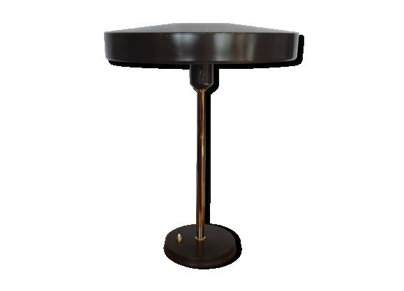lampe louis kalff philips ann es 50 m tal marron bon tat vintage. Black Bedroom Furniture Sets. Home Design Ideas