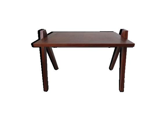 Table scandinave en bois pieds compas ann es 50 60 bois for Table basse scandinave annee 50